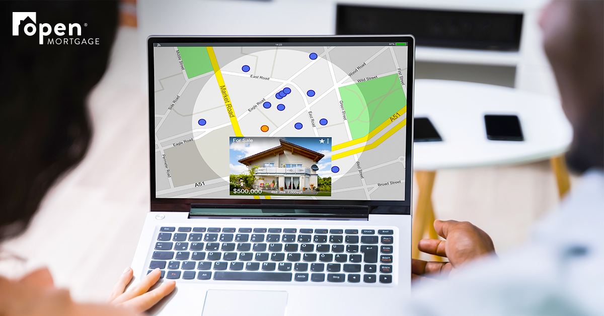 laptop with Google Maps on the screen